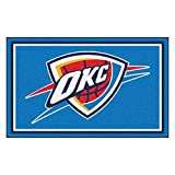 FANMATS 20438 NBA - Oklahoma City Thunder 4'X6' Rug, Team Color, 44''x71''