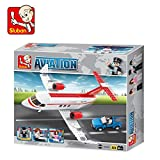 Sluban Aviation Private Airplane Educational Building Block Toys 275Pcs LEGO Compatible Multi Color Smart Gift M38-B0365