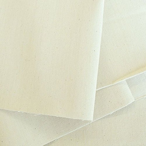 TOLKO® Baumwollstoff Meterware Canvas/Segeltuch ROH-Baumwolle Natur-Weiß als Polsterstoff/Bezugsstoff (Breite: 160 cm | mittelschwer)