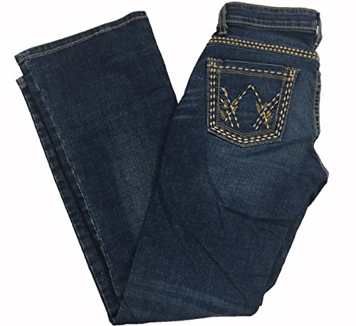 Wrangler Women's Cowgirl Cut Low Rise Ultimate Riding Jean (1/2 x 32, Dark - Jeans Riding Wrangler