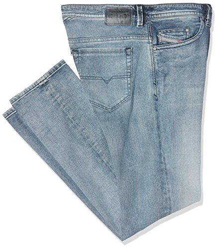 Diesel Thavar 0854Y 854Y Herren Jeans Hose Slim Skinny Röhrenjeans Blau Mittelblau (30W / 32L)