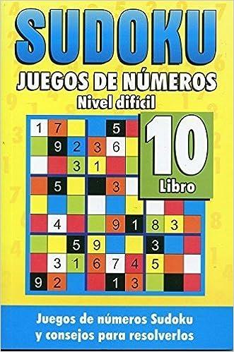amazon sudoku juegos de numeros libro 10 nivel dificil sudoku