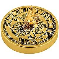 Gusums Messing Reloj de Sol, latón, 5cm