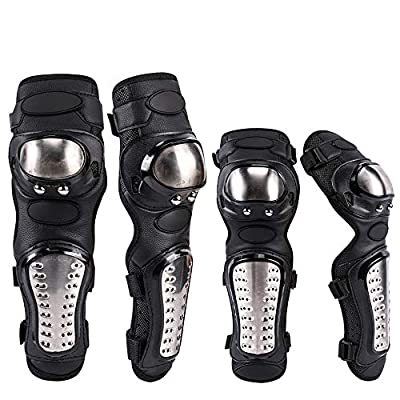 no logo Knee and Elbow Pads with Wrist Guards Protective Gear Set, Impact Resistance Cycling Scooter Skateboarding Outdoor Protector: Home & Kitchen
