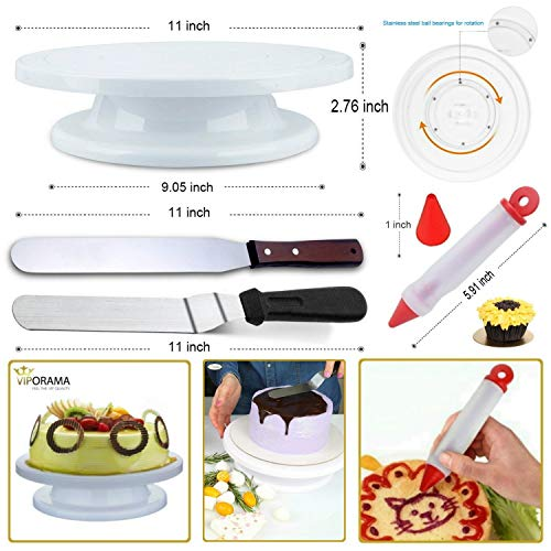 Whryspa All-in-One Cake Decorating Kit Supplies with Revolving Cake Turntable, 24 Cake Decorating Tips, for Cake Decoration Baking Tools by Whryspa (Image #3)