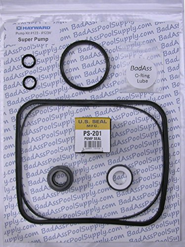 BadAss Pool Supply Compatible with Hayward Super Pump Complete Pump O-Ring Rebuild Kit, fits All Models