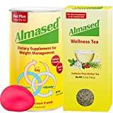 The #1 ALMASED® Weight Loss BUNDLE - Almased® Diet Protein Powder + Almased® Wellness Tea - Protein Support - Optimal Maximum Health and Energy + Free Stress Ball