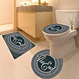 Printsonne Non-Slip Bath Toilet Mat Vintage Movie Ending Screen Camera Hollywood Industry Historic Entertainment Film with High Absorbency