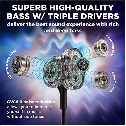 Bluetooth 5 0 Wireless Headphones - 6D Sound Effect - Up to 28 Hours Per  Charge, High-End Premium Deep Bass, IPX8 Waterproof Sport in-Ear Earphones  -