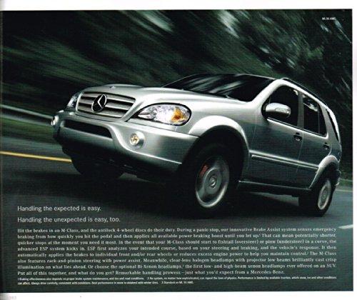- 2002 MERCEDES-BENZ M-CLASS PRESTIGE COLOR SALES BROCHURE - MC-01-392-250 - USA - EXCELLENT !!