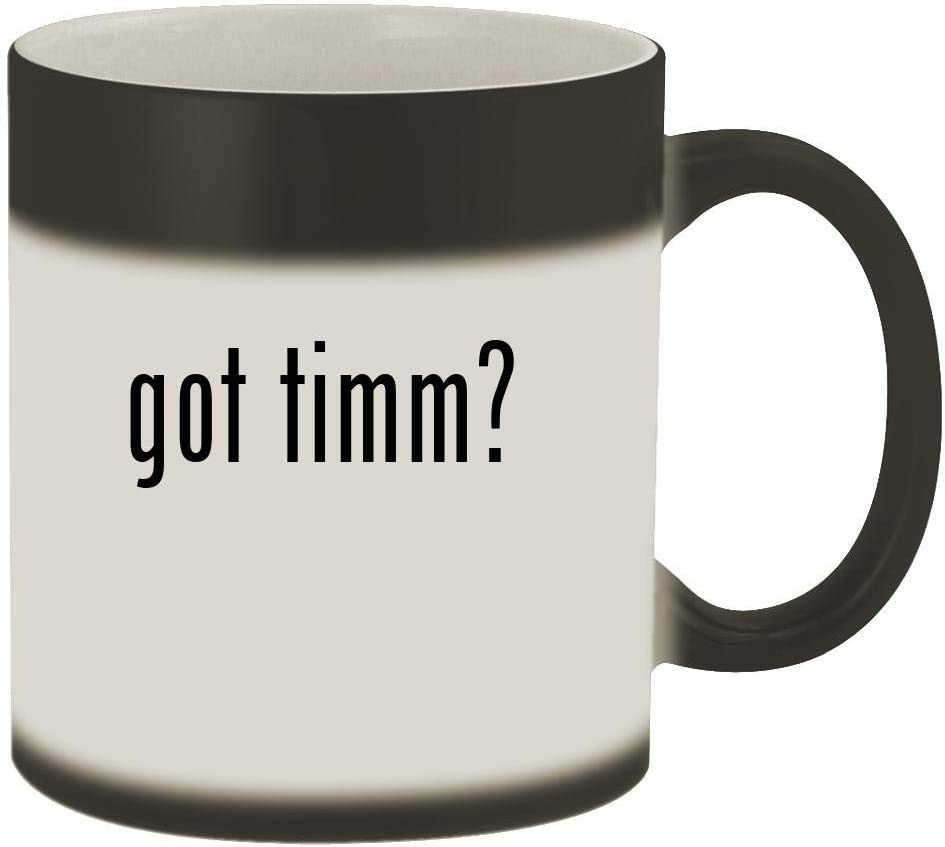 got timm? - 11oz Magic Color Changing Mug, Matte Black