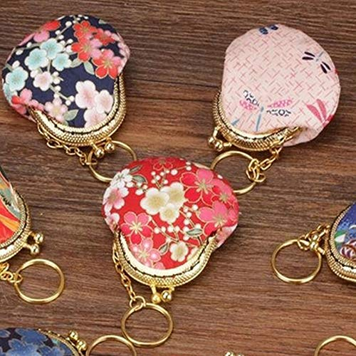 20PCS 5cm Metal Coin Purse Frame Handle with Keyring Kiss Clasp Lock Bags Hardware Antique Bronze for Clutch Bag Accessories #04