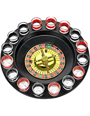 Shot Glass Roulette Complete Drinking Game Set Include 2 Balls and 16 Glasses