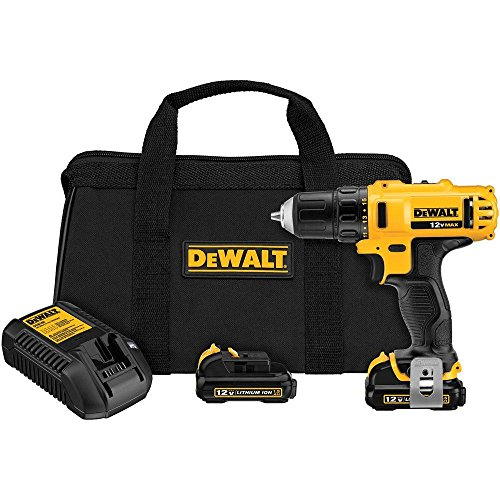 DEWALT DCD710S2 12-Volt Max 3/8-Inch Drill Driver Kit (Certified Refurbished)