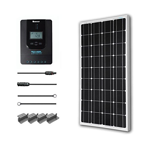Renogy 100 Watt 12 Volt Monocrystalline Solar Starter Kit With 40A Rover MPPT Charge Controller