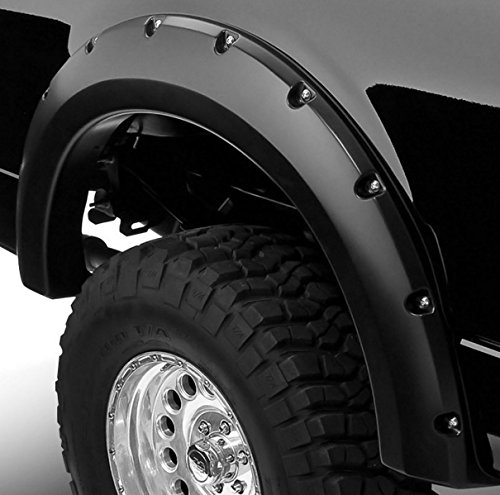 HS Power Sandblast Black Pocket Rivet Style Fender Flares Wheel Covers 04-08 F150/Mark Lt