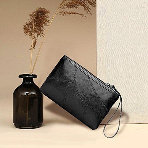 Soft Purse Lady Wristlets Handbag Women WalletWidewing Simple Leather Clutch Party S5WwFc4q