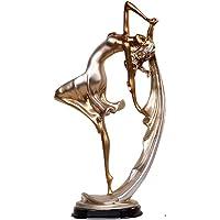 AJGJ Decorazioni per la casa, Artigianato in Resina Dipinta a Mano Ballerini Dorati sculture Decorazioni per Il Soggiorno Mobili da Vino Decorativi nordici Decorazione d'Arte