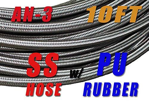 Pro Braking PBF8154-TPU-SIL Front Braided Brake Line Transparent Purple Hose /& Stainless Banjos