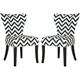 Safavieh Mercer Collection Jappic Navy and White Ring 20-inch Side Chair (Set of 2)