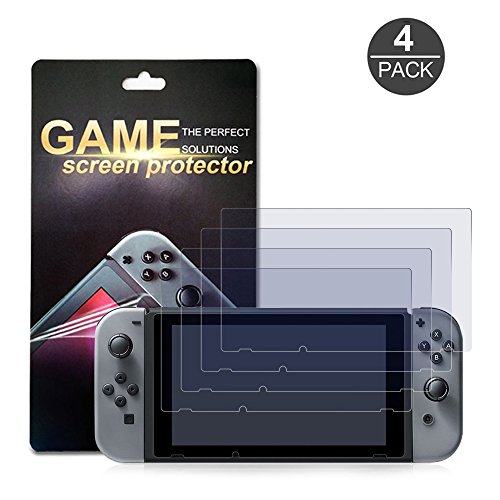 Protector Hori ((4-Pack) Nintendo Switch Screen Protector, Akwox HD Film Solid Premium Screen Protectors Super Tough Screen Protective Filter for Nintendo Switch 2017)