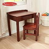 Melissa & Doug Child's Lift-Top Desk & Chair (Kids Furniture, Espresso, 2 Pieces, 16.1' H x 23.6' W x 23.2' L)