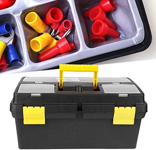 SOONHUA G-559-3 Large Medium Plastic Toolbox Lockable Removable Storage Box Tool Case