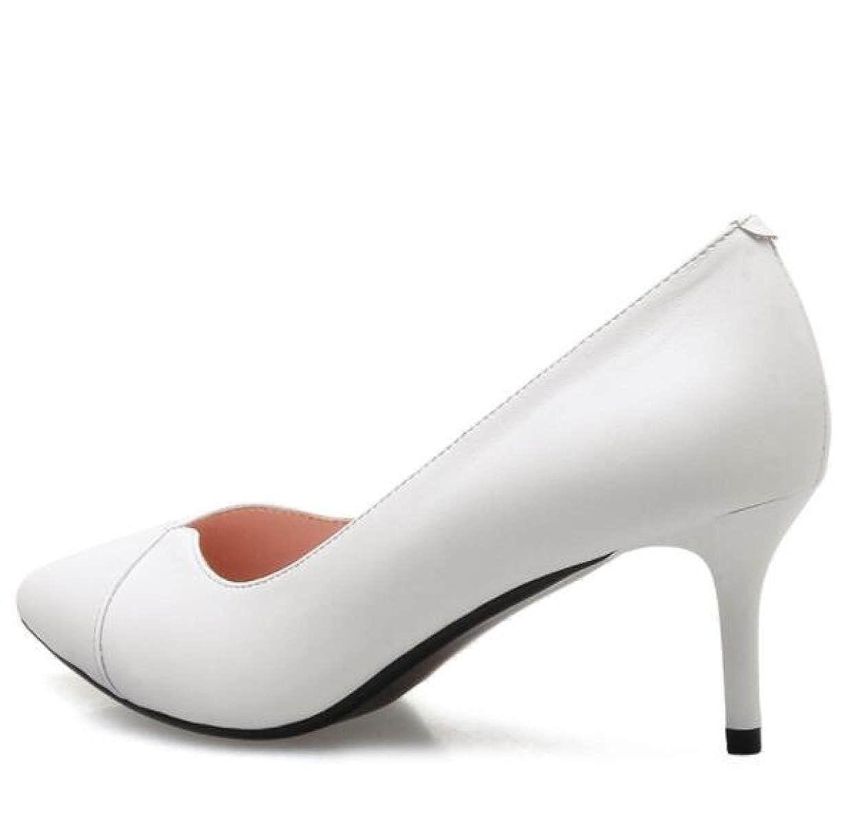 Mode Einzelne Schuhe Frühling Und Herbst Fein Lederschuhe Fein Herbst Mit High Heels Arbeitsschuhe Weiß 625a91