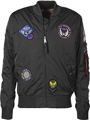 Ma Nero 1 Jacket Patch Tt Uomo Industries Alpha Verde AqF1EE