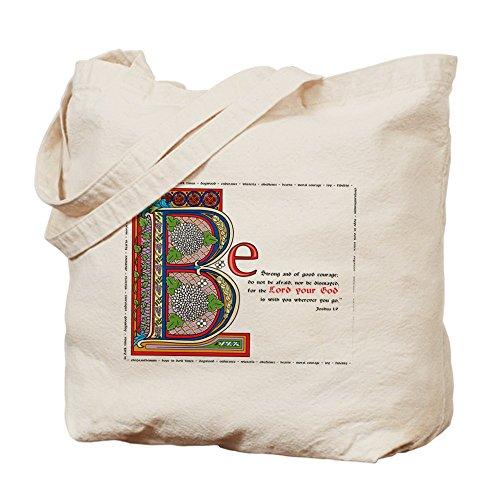 CafePress - Joshua 1:9 - Natural Canvas Tote Bag, Cloth Shopping Bag