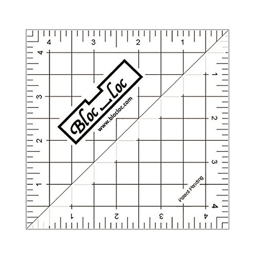 Bloc Loc Half Square Triangle Ruler 4.5 (Block Ruler)