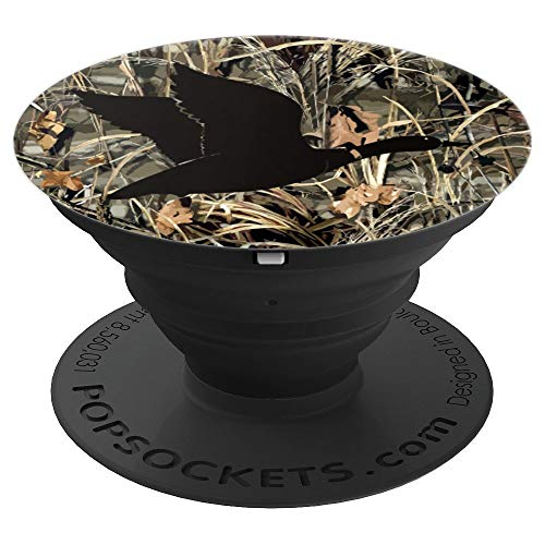 Waterfowl Hunting Camo Camouflage Duck Hunters Gifts Men - PopSockets Grip and Stand for Phones and Tablets