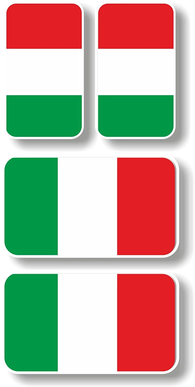 In vinile/decalcomania Extra Small Italia bandiere –  Gruppo di 4 Graphic Effects