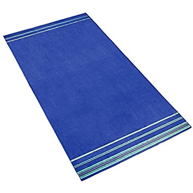 Velour Oversized 40  x 70  KING SIZE Beach Towels. - COBALT