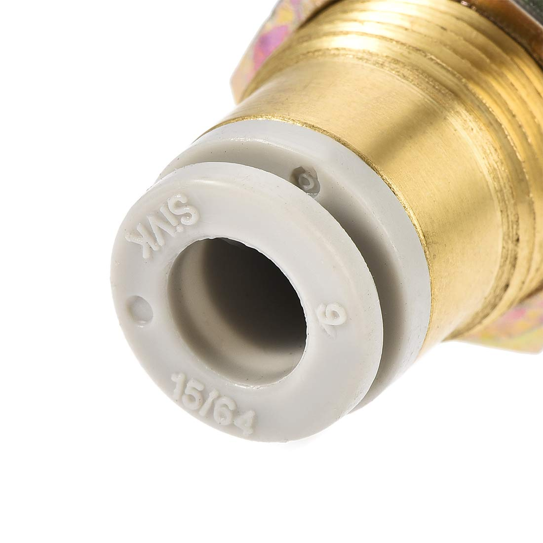 uxcell Pneumatic Push to Connect Tube Fittings Bulkhead 6mm Tube OD x M14 Male