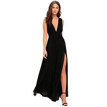 Vestidos Mujer Casual,Mujer Formal de Gasa sin Mangas Fiesta de la Noche de Baile Largo Vestido Maxi LMMVP (L, B): Amazon.es: Hogar