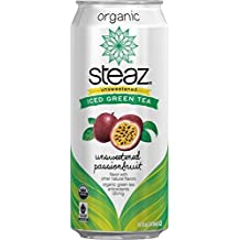 - Steaz Unsweetened Iced Green Tea - Unsweetened Passionfruit - 16oz. by Steaz