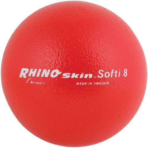 "Champion Sports Softi Rhino Skin Ball, 8"", Red"