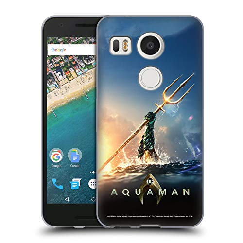 Official Aquaman Movie Trident of Atlan Posters Soft Gel Case Compatible for LG Nexus 5X