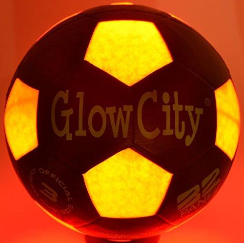 Heico Soccer Ball Lamp: GlowCity Size Three Light Up LED Soccer Ball-Uses Two Hi