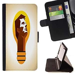 King Case - FOR HTC One M9 - is not just a dream - Prima caja de la PU billetera de cuero con ranuras para tarjetas, efectivo Compartimiento desmontable y correa para la mu?eca