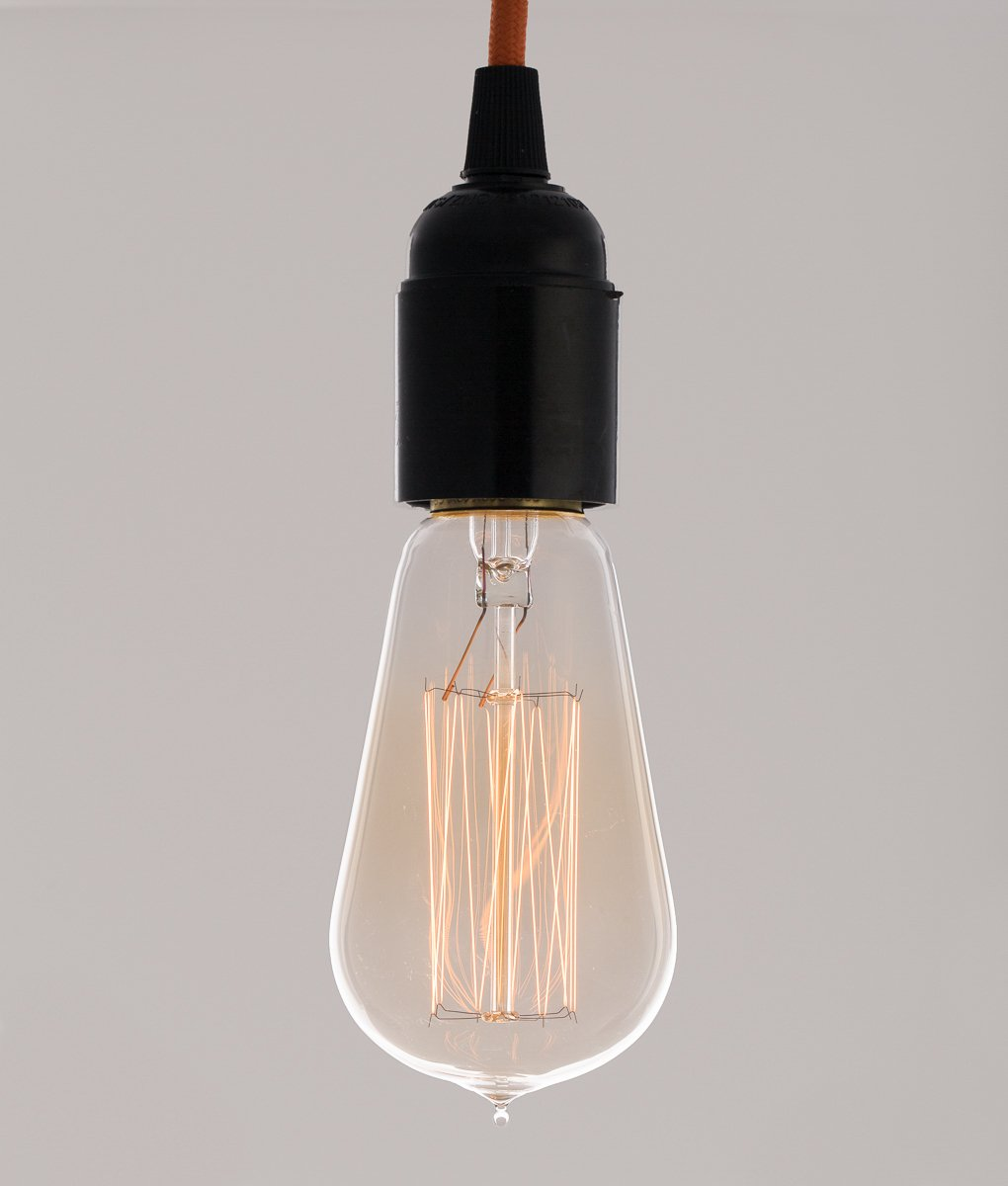 Vintage Light Bulb Squirrel Cage Filament Old Fashioned Edison Wiring Lamp E27 Screw Kitchen Home