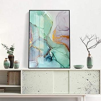 Sin Marco Pintura Lienzo Verde y Rosa nórdico Carteles e Impresiones de Moda Arte Abstracto Moderno Decoración del hogar HD Flujo de Color Arte de la Pared 40x60cm: Amazon.es: Hogar