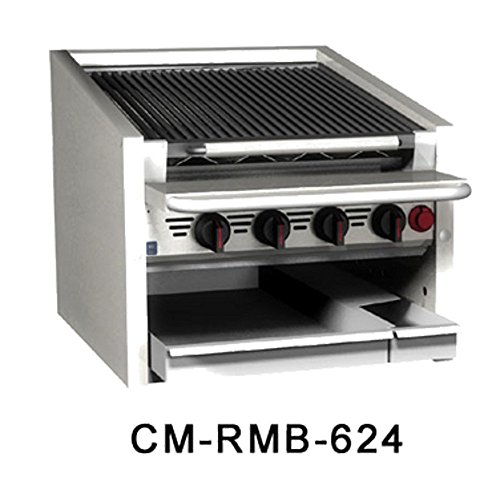MagiKitch'N CM-RMB-624CR 24'' Countertop Gas Radiant Charbroiler by MagiKitch'N
