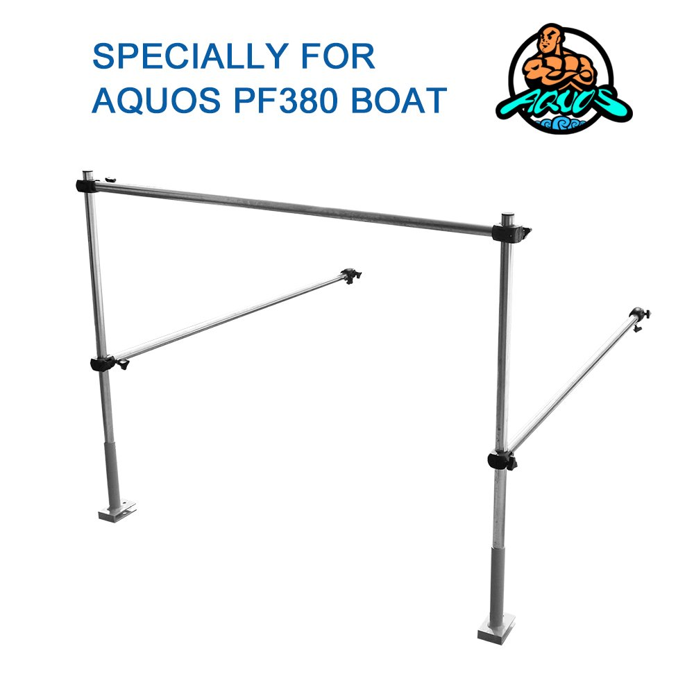 Aquos The Guard Bar 12.5 inch Green 0.9 PVC Inflatable Pontoon Boat for Lure Fishing Bass Fishing by Aquos