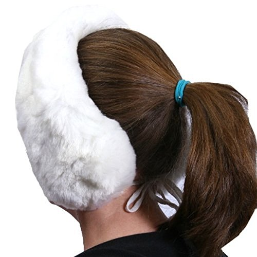100% Australian Sheepskin Headband Earmuffs / Scarf in White