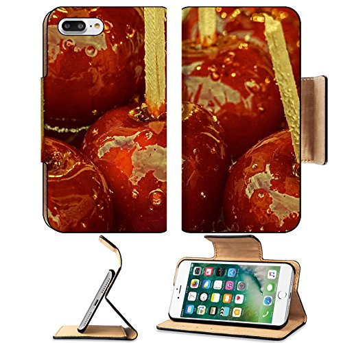 Luxlady Premium Apple iPhone 7 Plus Flip Pu Leather Wallet Case iPhone7 Plus 34405955 Candy apples covered with glaze for sale at a street fair Vintage - Java Bites