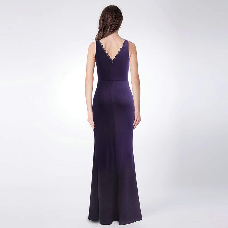 Aliyour Dark Purple Bridesmaid Dresses V Neck Long Dress For Wedding Party Sleeveless Purple 12 Amazon Ca Clothing Accessories,Wedding Dress Designs For Girls Kids