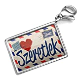 Neonblond I Love You Hungarian Love Letter from Hungary - Charm Lobster Clasp clip on