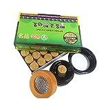 Ganghwaae Kungangae Myoung Pum Mugwort Pure Moxa Cone 56A With Burner